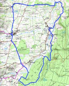 Itinéraire 15 km