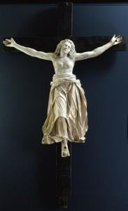 reproduction d'une statue en marbre de santa Giulia, réalisée par les frères Carra, exposée au monastère san Salvatore - santa Giulia